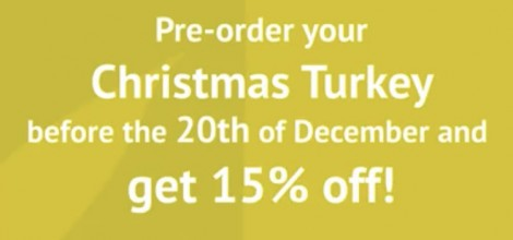 Pre-order your Christmas Turkey